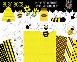 free printable bee clipart 63