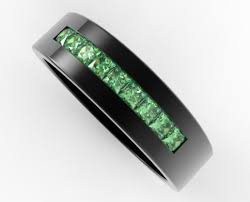 cheap engagement rings for men black gold emerald ring for him custom bridal jewelry vidar