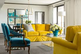 yellow living room furniture peacock blue and yellow living room hollywood regency living