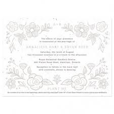 invitation paper plantable wedding invitations catalog botanical paperworks