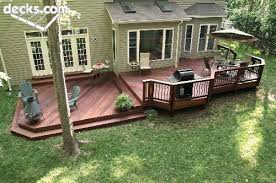 multi level ipe deck conversation area decking and grilling