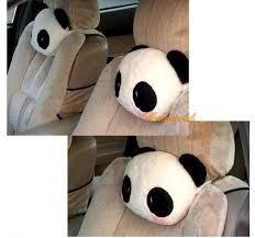 coussin si e auto mignon de bande dessinée panda en peluche auto taille coussin siège