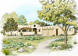 southwestern home plan with unusual shape 46046hc