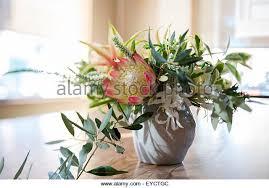 Silk Flower Arrangements For Dining Room Table Floral Arrangement On Dining Table Stock Photos U0026 Floral