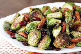 roasted brussels sprouts with cranberries and pecans southern bite