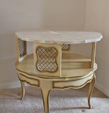 French Provincial Table French Provincial Marble Top Accent Table Ebth
