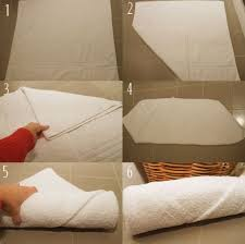 How To Make Your Bed Like A Hotel Step 1 Fold The Towel In Half So That It Makes A Square Towels