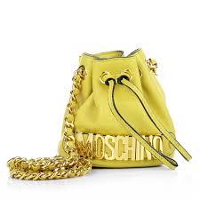 moschino designers luxury moschino mini chain logo bucket bag