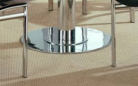 steel modern dinette w glass top rotating table