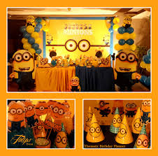 Minion Birthday Decorations Minions Birthday Party Decoration Cutouts And Paper Sticks Party