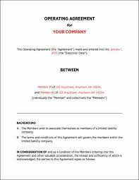 company operating agreement corporate operating agreement