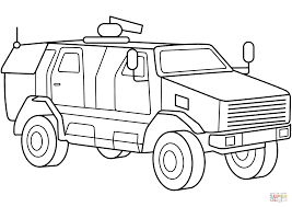 mrap military armored mrap vehicle coloring page free printable