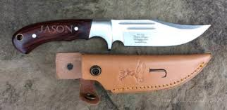Knives For Groomsmen 1 Personalized Bowie Hunting Knife With Engraved Leather Sheath