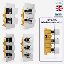 3 way shower valve ebay 1 2 way concealed thermostatic bar shower mixer valve chrome solid brass