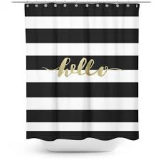 Anti Ligature Shower Curtain Brown And White Striped Shower Curtain Eyelet Curtain Curtain