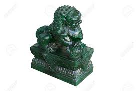 jade lion statue jade lion statue on white background stock photo picture