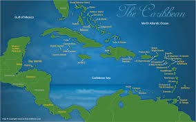 Puerto Rico On A Map by Caribbean Map Of Adventures Activities Active Caribbean