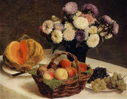 flowers and fruit flowers and fruit a melon 1865 henri fantin latour wikiart org