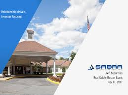 sabra health care reit inc sbra presents at jmp securities