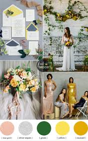industrial and contemporary wedding look in shades of yellow and
