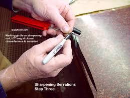 serrations on fine handmade custom knives by jay fisher