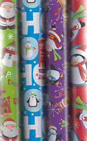 christmas gift wrap rolls 4 x 5m rolls of christmas gift wrap paper wrapping santa