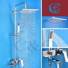 discount bathroom shower mixer tub faucet shower set with brass