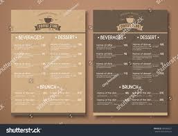 design menu cafe restaurant coffee shop stock vector 496582021 design a menu for the cafe a restaurant coffee shop templates in retro