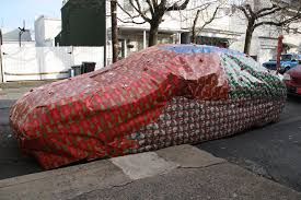 car wrapped in wrapping paper eric s car wrapped with christmas wrapping paper shenandoah 12