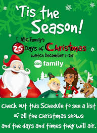 abc family u0027s 25 days of christmas schedule 2016