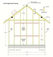 wall blueprints 12 16 storage shed plans blueprints for large gable shed with dormer