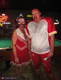 Zombie Cheerleader Costume Football Player And Cheerleader Costume