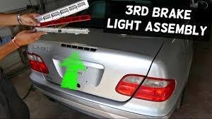 third brake light assembly mercedes clk w208 third brake light assembly removal replacement