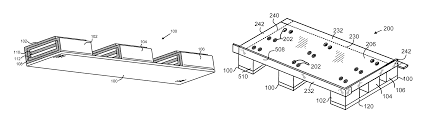 patent us8397916 high durability feet for corrugated shipping