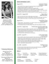 Interior Design Resume Templates Interior Design Resume Template Interior Designer Resume