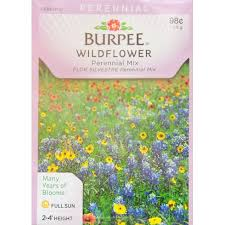 wildflower seed packets burpee wildflower perennial mix seed packet walmart