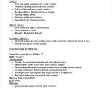 Security Officer Resume Sample Objective Security Guard Resume Sample 19 Objectives For Resumes