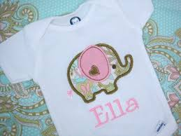 personalized bookends baby personalized baby girl onesie elephant by sweettulipsboutique