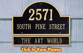 Personalized Home Decor Signs Address Plaques Made In Usa Custom House Number Signs