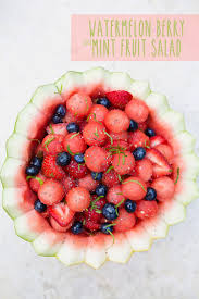 mint watermelon berry fruit salad turning a fruit bowl into a