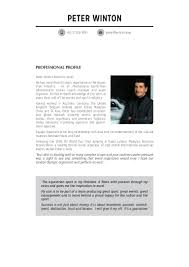 Best Resume Malaysia by Peter Winton Resume