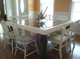 our beachy dining room table we built with pallets the