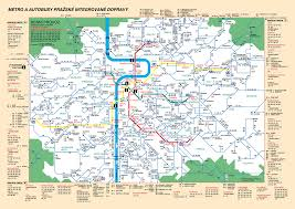 Prague Metro Map by Prague Metro