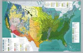 Map If The Usa by Detailed Vegetation Map Of The Usa 1970 Ecoclimax