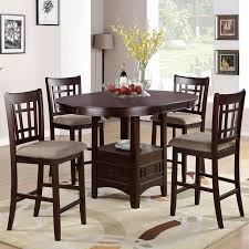 round kitchen table for 5 table set counter height 5 pcs round table leaf cushion seat