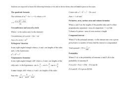 Gcse Simultaneous Equations Worksheet Mathematics Gcse Formula Sheet For 2017 Exams Higher Tier By