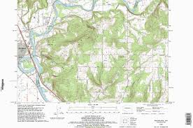 Oregon Topographic Map by Sluggo U0027s Nw 305 Hijacking Research Web Site