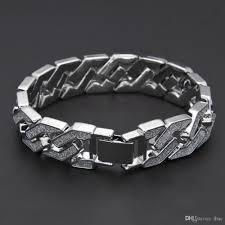 bracelet diamond men images 2018 2017 men 39 s luxury flash powder diamond fashion bracelets gold jpg