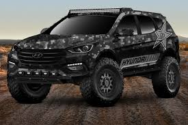 sema jeep for sale hyundai reveals wild santa fe concept car for sema by car magazine