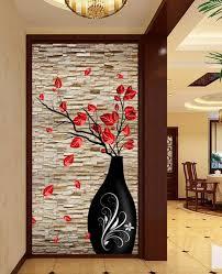 online get cheap soundproof bedroom door aliexpress com alibaba custom 3d stereo photo wall mural modern vase flower brick wall wallpaper living room bedroom bathroom